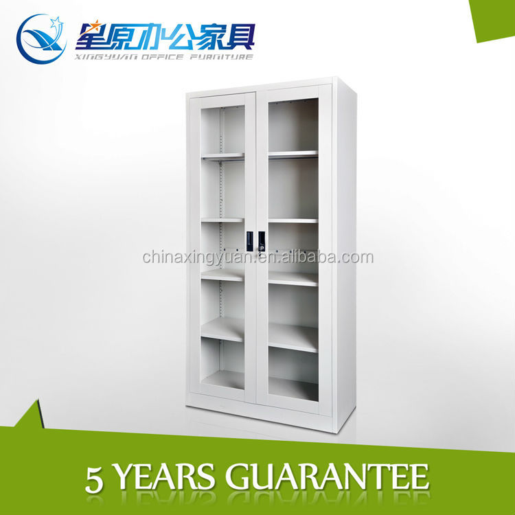 swing glass door combination bookcases and book cabinet self assembly furniture