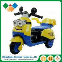 Kids rechargeable motorcycle ride on car