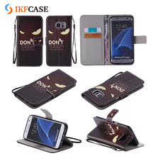 New Custom Printed Flip Wallet Style Card Holder Leather Silicone Phone Case for Samsung Galaxy S7 Edge