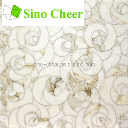 Beautiful white marble flower marble mosaic tile round mosaic