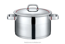 stainless steel cookware set with capsulated induction bottom