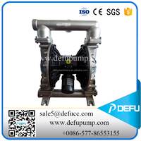chamical industry the stainless steel Santoprene diaphragm air duplex pump for PYDRAUL and seawater