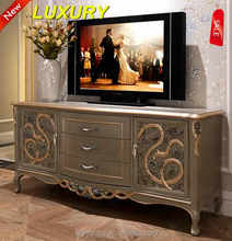 Wooden carved multi drawer decorative TV cabinet with drawer AFTV-103