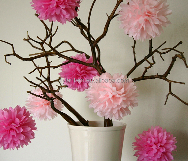 10 inch paper flowers paper pom poms stage decoration for <strong>christmas</strong>