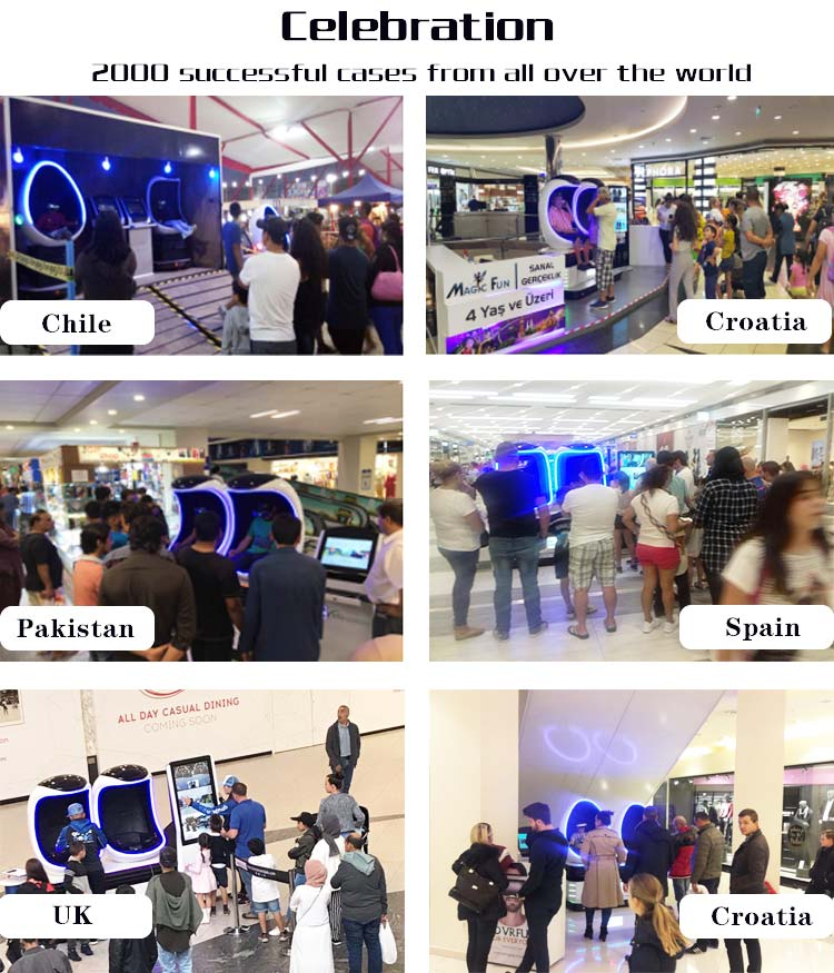 Amusement Park Virtual Reality Equipment 9d Vr Cinema In Guangzhou