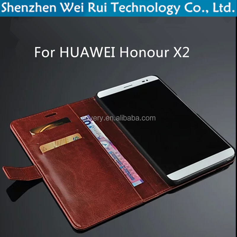 business case for huawei honor x2 wallet flip smartphone cover high quality pu leather protective sleeve