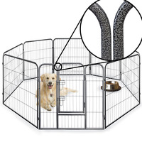 8 Side 60cm, 80cm, & 100cm Tall Heavy Duty Strong Pet Whelping Playpen Dog Puppy Cage Crate Folding Fence