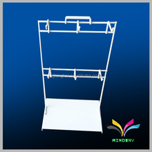 Fashion design metal white counter supermarket wire rack display hook