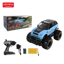 Zhorya 2.4G 4CH 1:14 scale 60m range rechargeable plastic wireless remote control big wheel toy off road pickup car truck