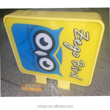 advertising durable outdoor shop display light box
