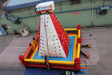 Commercial fire truck climbing wall/ inflatable rock climbing
