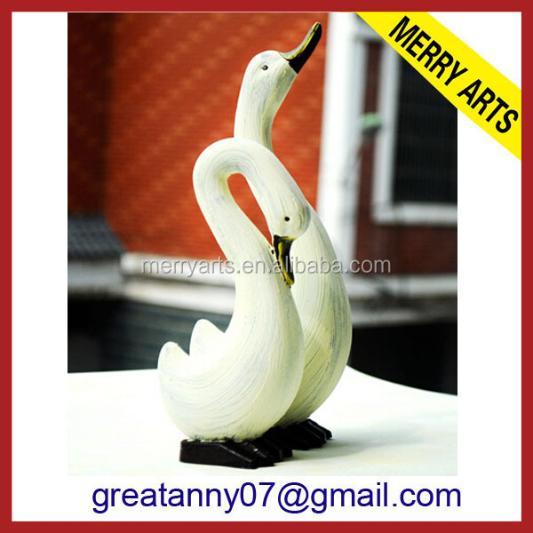 China factory lighted christmas duck gift wood standing duck wholesale