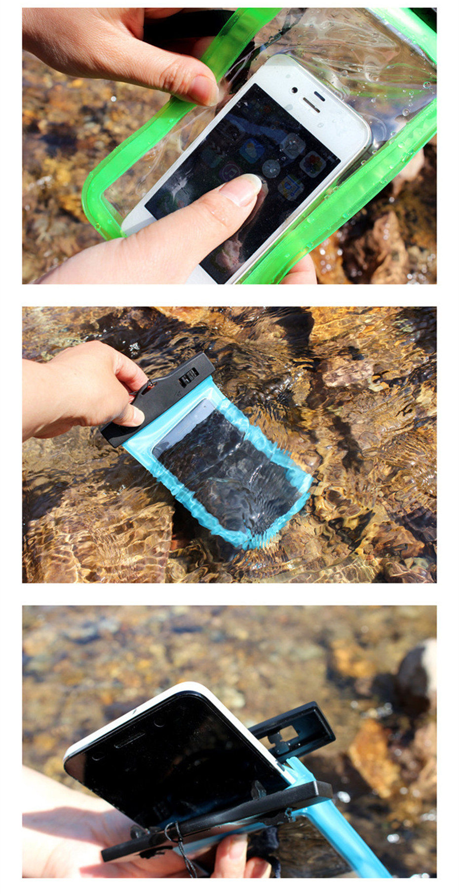 Waterproof Case Luminous Glow Waterproof Underwater Pouch Bag Pack Dry Case Cover For Cell Phone