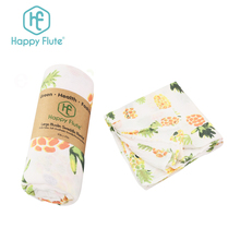 China Manufacturer Double layers blanket 100% organic cotton breathable muslin swaddle baby blanket