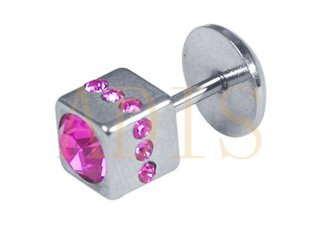 Jewelled Square Labret body jewelry