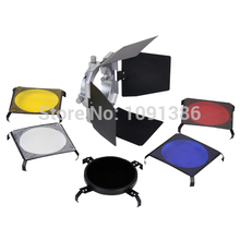 4 Color Gels SN-01 Barn Door filter kits for studio flash light
