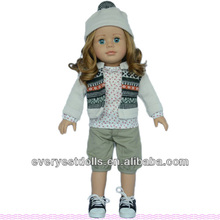 16 inch porcelain girl doll kits