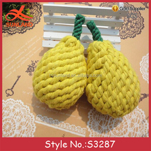 S3287 hot sale free soft toy knitting patterns plush pears knit toys for wholesale