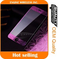 wholesale 9H hardness 2.5D round edge color tempered glass screen protector for iphone 5