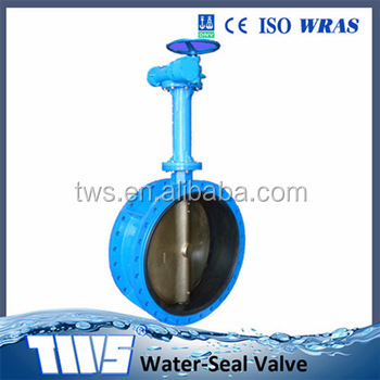 Competitive price manufacture worm gear drive butterfly valve hot sale