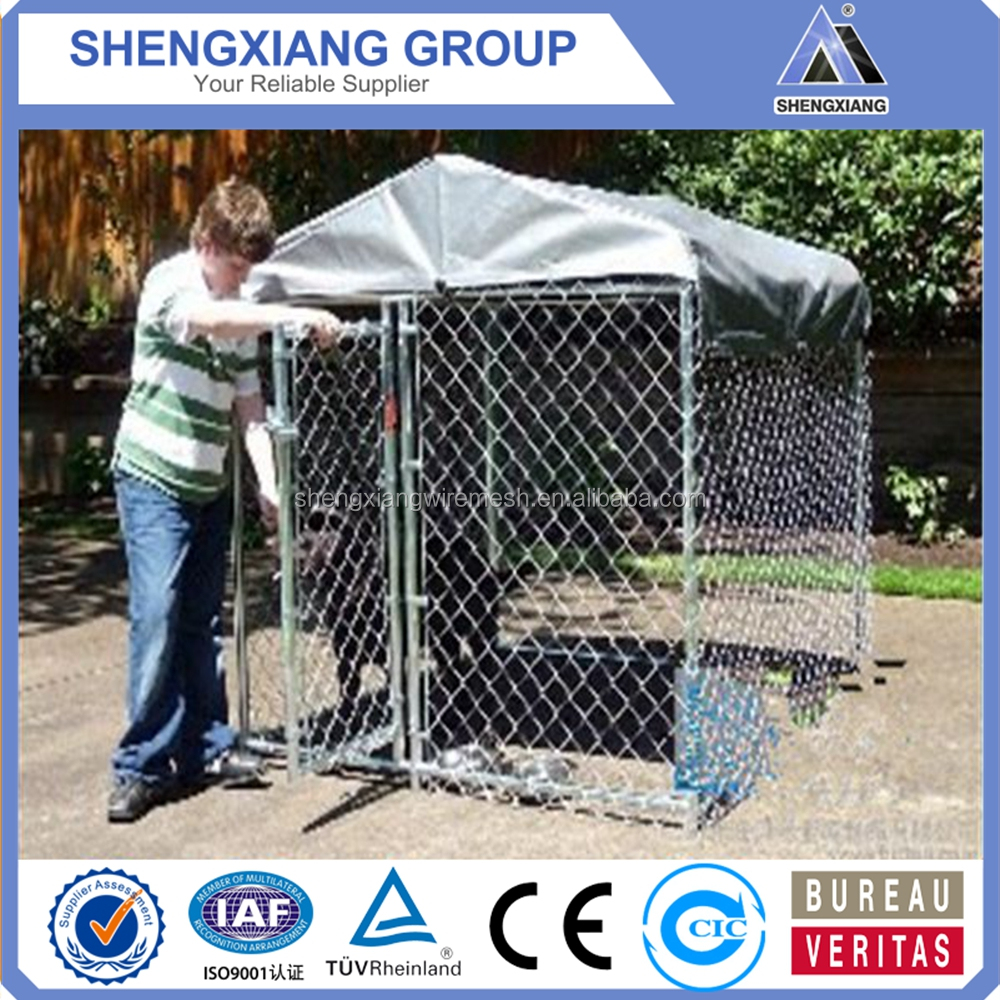 alibaba hot sale high quality galvanized dog cage two doors cheap price