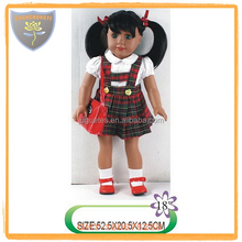 New arrival black plastic doll for girl with uniform