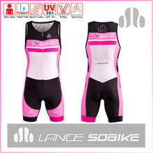 Soomom sublimation custom made cycling skin suit triathlon race suit in summer