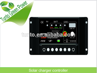2016 Effecient PWM 12V 24V 48V Solar panel battery Charger Controller larging housing DC 12V