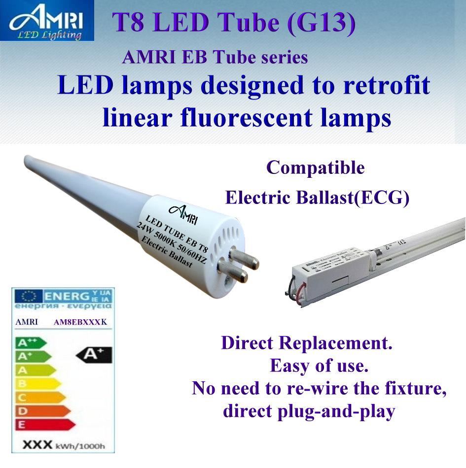 T8 LED TUBE G13;T8 LED TUBE Compatible Electronic Ballast(ECG) ;Direct Replacement;T8 LIGHT; LED LIGHT