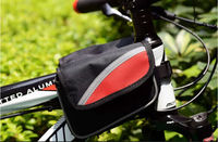 Water proof wear resistant nylon material bicycle top tube bag
