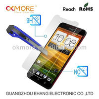 China manufacturer anti scratch tempered glass screen protector for htc hd2