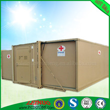 Brand new color steel sheet Sandwich panel expandable container home movable for First aid scene with Excellent price
