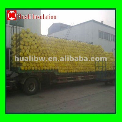 Glass wool blanket in vaccum packing shipped by truck 17.5m (FCA Suifenhe,Manzhoule, Heihe)