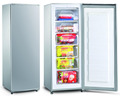 Single door dc solar upright ice cream freezer 180liters BD-180F