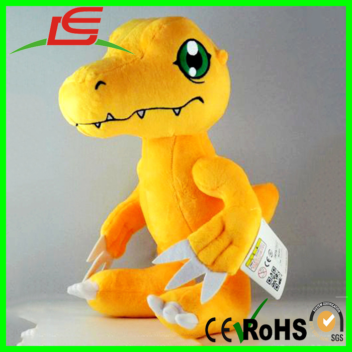 custom yellow body big eyes stuffed plush pokemon dragon digimon