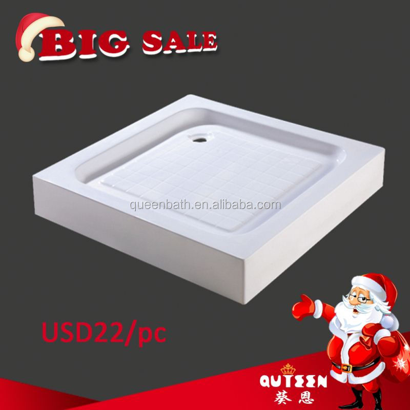 Queen-bath JR-T001 cast iron shower tray High Quality Freestanding Enameled Cast Iron Clawfoot Shower Tray