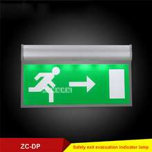 5pcs/lot ZC-DP Acrylic Stop Sign Fire Emergency Lighting Fixtures Safety Exit Evacuation Indicator Lamp 110V/220V 3W 50-300cd/m2