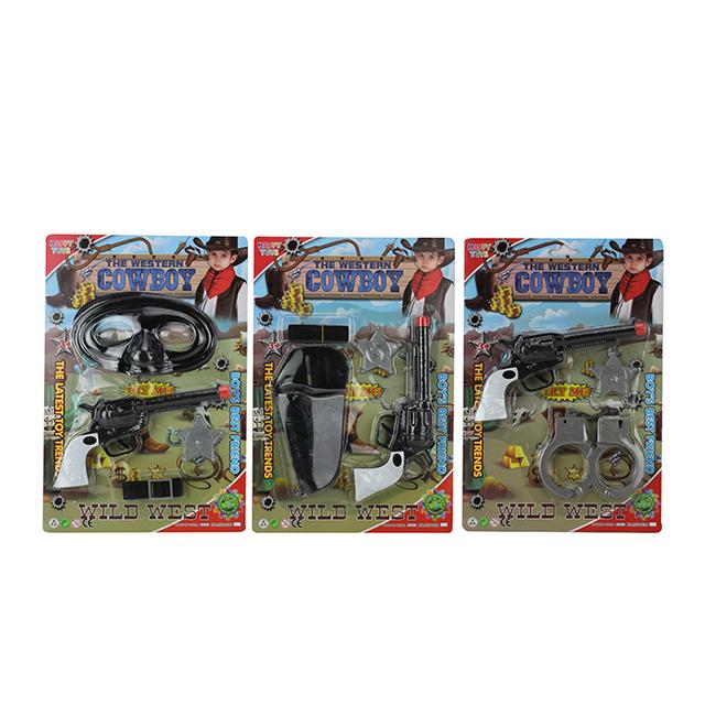 Cowboy shooting toy gun set for kids