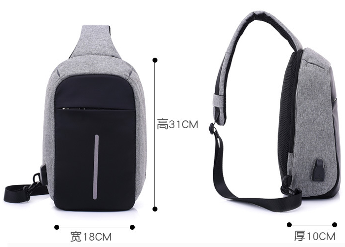 STP15A1 usb bag backpack anti theft backpack Outer USB Battery Charging Secret Pocket usd4.45-7.95/pc