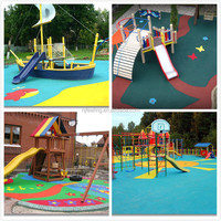 Play area, Outdoor Rubber Playground and Running Track material, Colored EPDM Rubber Granules-FN-A-16061606