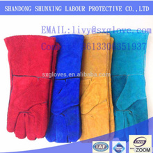 High quality welder special natural leather welding gloves wholesale price