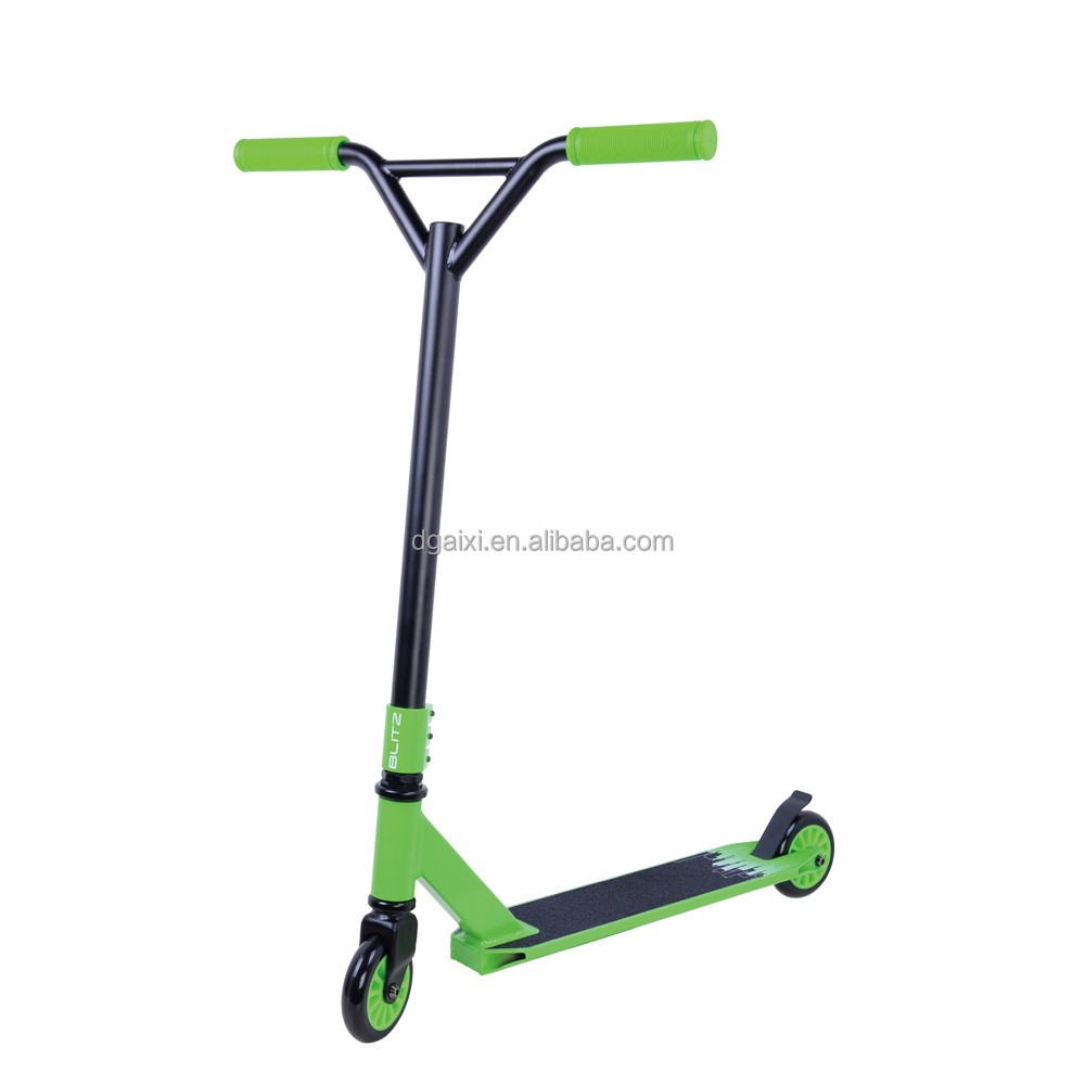 Freestyle Bmx Adult Beginner Scooter Riders Green Chromoly Pro Scooter