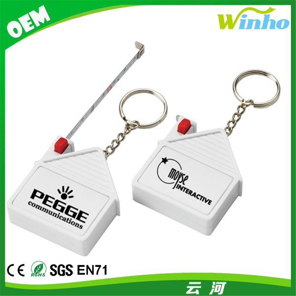 Promotional Micro Tape Measure Key Chain