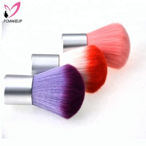 New Factory Supplier Large Synthetic Mushroom Head Powder Kabuki Makeup Brush by Clear PVC Boxed
