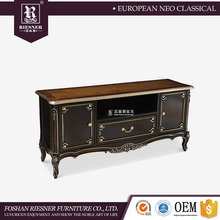 Tv stand modern living room furniture / High end furniture Solid wood tv cabinet with showcase