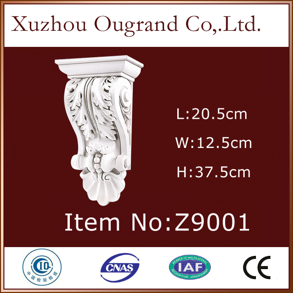 decorative pu cherry wood corbels for home from China