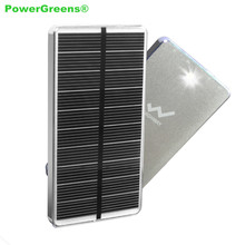 PowerGreen Power Bank Portable 10000mAh Solar Charger Mini Solar Panel Kits for Phones