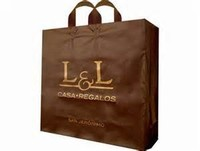 Wholesale OEM Chocolate soft loop Plastic Shopping Carrier Bag