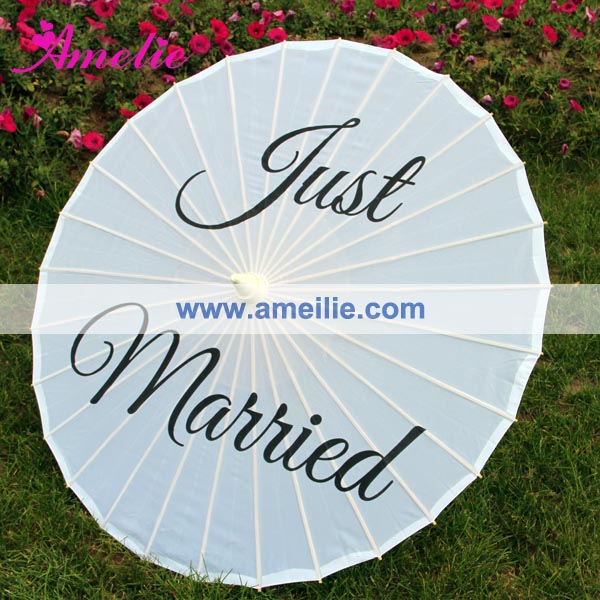 Personalized Nylon Silk Favor For Wedding Logo Printed Parasol