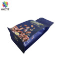 Custom Printing Matte Finish Box Bottom Plastic Coffee Packaging Bags with Zipper Up